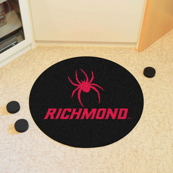 "27"" University of Richmond Puck Round Mat - ""Spider & Richmond"" Logo"