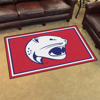 4' x 6' University of South Alabama Red Rectangle Rug