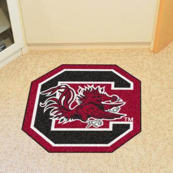 "University of South Carolina Mascot Mat - ""Block C & Gamecock"" Logo"