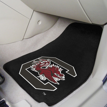 University of South Carolina Black Carpet Car Mat, Set of 2