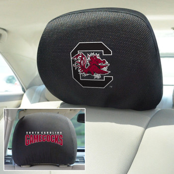 University of South Carolina Car Headrest Cover, Set of 2