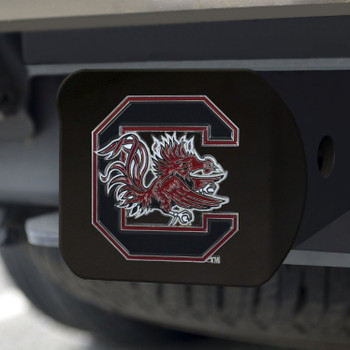 University of South Carolina Hitch Cover - Color on Black