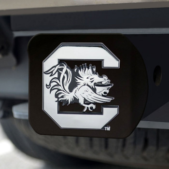 University of South Carolina Hitch Cover - Chrome on Black
