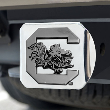University of South Carolina Hitch Cover - Chrome on Chrome