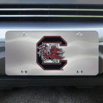 University of South Carolina Diecast Stainless Steel License Plate