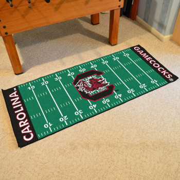 "30"" x 72"" University of South Carolina Football Field Rectangle Runner Mat"