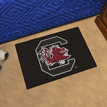 "19"" x 30"" University of South Carolina Black Rectangle Starter Mat"