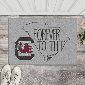"19"" x 30"" University of South Carolina Southern Style Gray Rectangle Starter Mat"