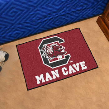 "19"" x 30"" University of South Carolina Man Cave Starter Maroon Rectangle Mat"