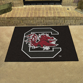 "33.75"" x 42.5"" University of South Carolina All Star Black Rectangle Mat"