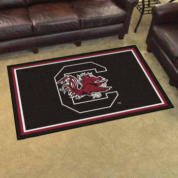 4' x 6' University of South Carolina Black Rectangle Rug