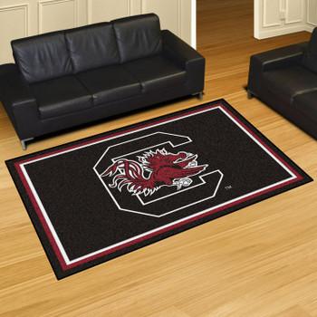 5' x 8' University of South Carolina Black Rectangle Rug