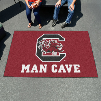 "59.5"" x 94.5"" University of South Carolina Man Cave Maroon Rectangle Ulti Mat"