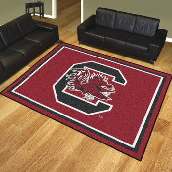 8' x 10' University of South Carolina Maroon Rectangle Rug