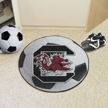 "27"" University of South Carolina Soccer Ball Round Mat"