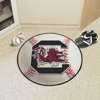 """27"""" University of South Carolina Baseball Style Round Mat"""