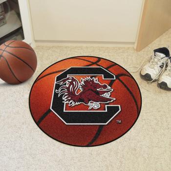 """27"""" University of South Carolina Basketball Style Round Mat"""