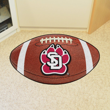 "20.5"" x 32.5"" University of South Dakota Football Shape Mat"