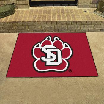 "33.75"" x 42.5"" University of South Dakota All Star Red Rectangle Mat"