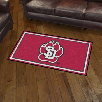3' x 5' University of South Dakota Red Rectangle Rug