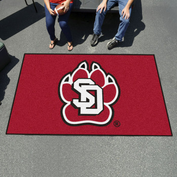 "59.5"" x 94.5"" University of South Dakota Red Rectangle Ulti Mat"