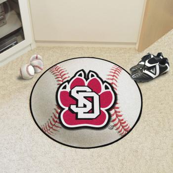 """27"""" University of South Dakota Baseball Style Round Mat"""