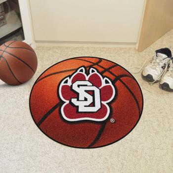 """27"""" University of South Dakota Basketball Style Round Mat"""