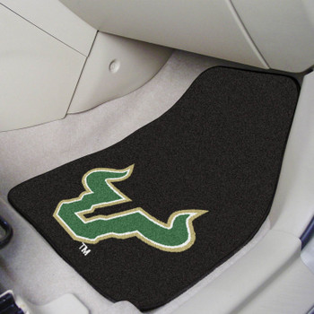 University of South Florida Black Carpet Car Mat, Set of 2