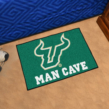 "19"" x 30"" University of South Florida Man Cave Starter Green Rectangle Mat"