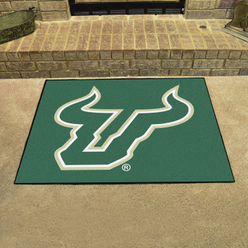 "33.75"" x 42.5"" University of South Florida All Star Green Rectangle Mat"