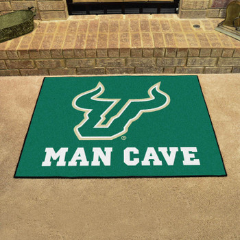 "33.75"" x 42.5"" University of South Florida Man Cave All-Star Green Rectangle Mat"