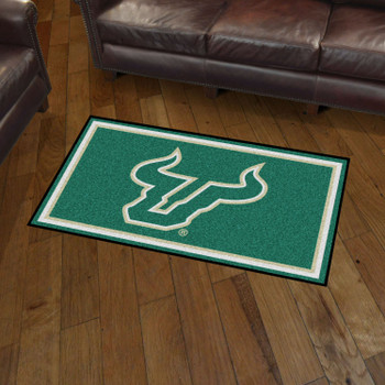 3' x 5' University of South Florida Green Rectangle Rug