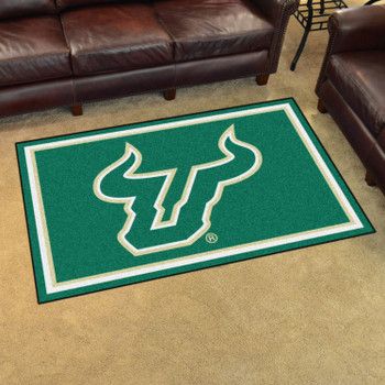 4' x 6' University of South Florida Green Rectangle Rug
