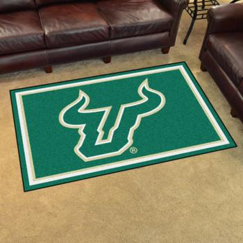 4' x 6' University of South Florida Green Rectangle Rug
