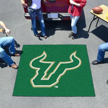 "59.5"" x 71"" University of South Florida Green Tailgater Mat"