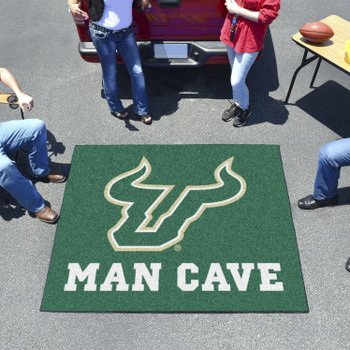 "59.5"" x 71"" University of South Florida Man Cave Tailgater Green Rectangle Mat"