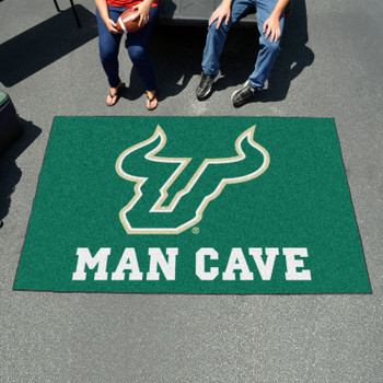 "59.5"" x 94.5"" University of South Florida Man Cave Green Rectangle Ulti Mat"