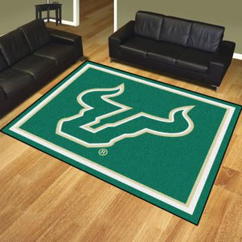 8' x 10' University of South Florida Green Rectangle Rug
