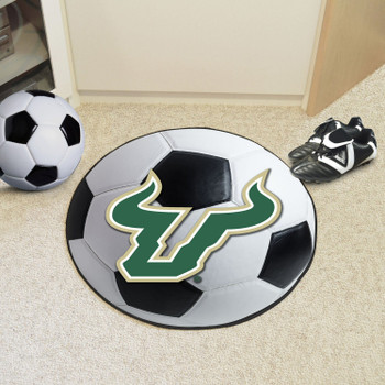 "27"" University of South Florida Soccer Ball Round Mat"