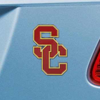 University of Southern California Red Color Emblem, Set of 2