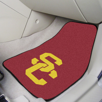 University of Southern California Red Carpet Car Mat, Set of 2
