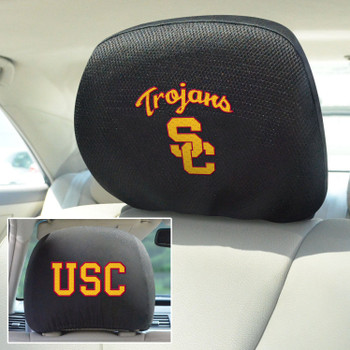 University of Southern California Car Headrest Cover, Set of 2