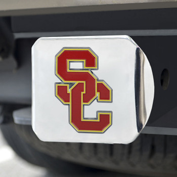 University of Southern California Color Hitch Cover - Chrome