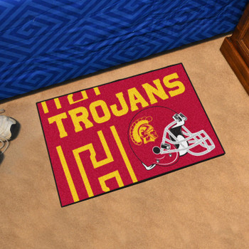 "19"" x 30"" University of Southern California Uniform Red Rectangle Starter Mat"