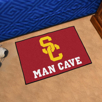 """19"""" x 30"""" University of Southern California Man Cave Starter Red Rectangle Mat"""
