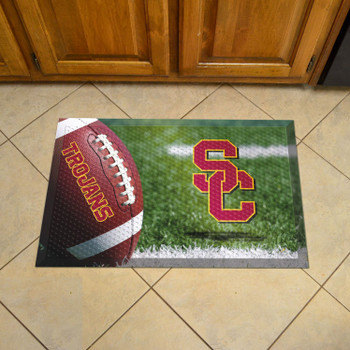 "19"" x 30"" University of Southern California Rectangle Scraper Mat - ""Block SC"" Logo"