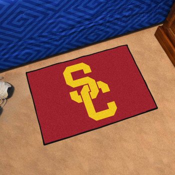 "19"" x 30"" University of Southern California Red Rectangle Starter Mat"