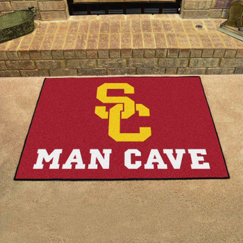 "33.75"" x 42.5"" University of Southern California Man Cave All-Star Red Rectangle Mat"