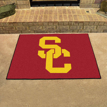 "33.75"" x 42.5"" University of Southern California All Star Red Rectangle Mat"