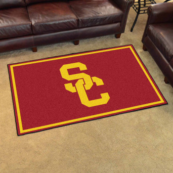 4' x 6' University of Southern California Red Rectangle Rug